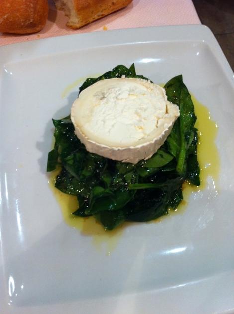 Ensalada de queso de cabra
