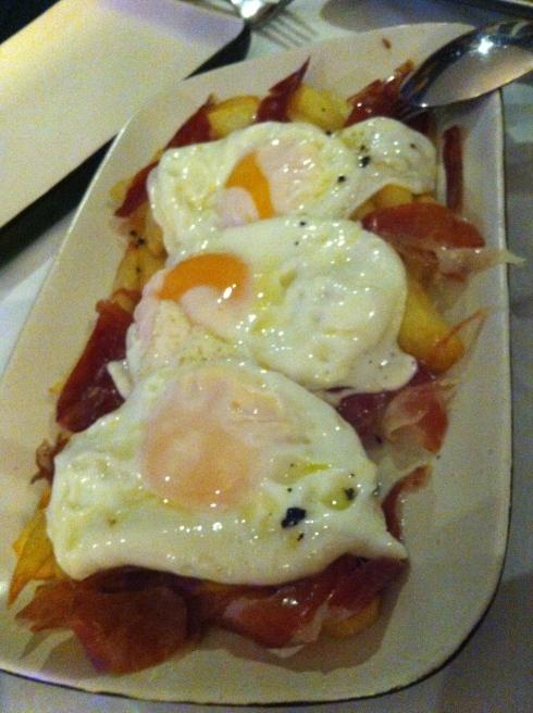 La Cocinita de Sunset - Huevos de corral trufados con jamón ibérico