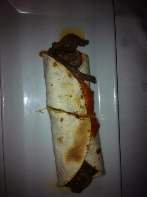 La Huella - Burrito de ternera salteada