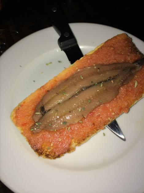 Bodega La Ardosa - Tosta de anchoas